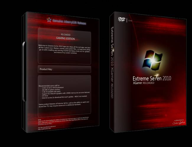 Windows XP SP Extreme Se7en 2010 XGamer